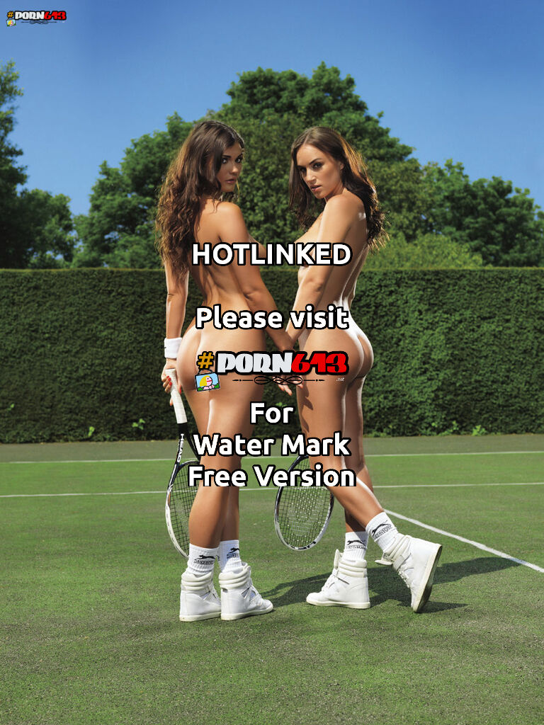 Rosie Jones And India Reynolds ready to serve.